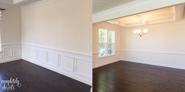 Formal dining room wainscoting