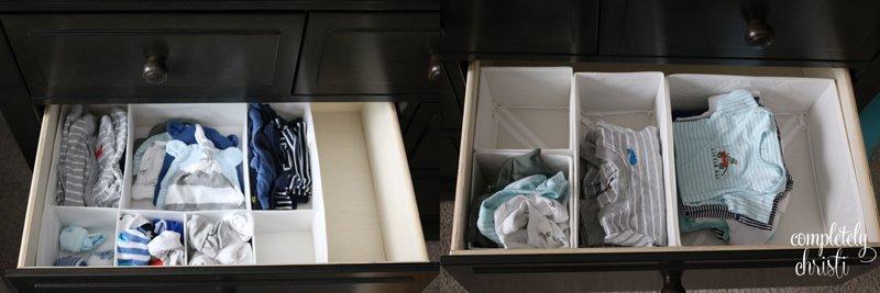 Nursery Organization: closets and dressers