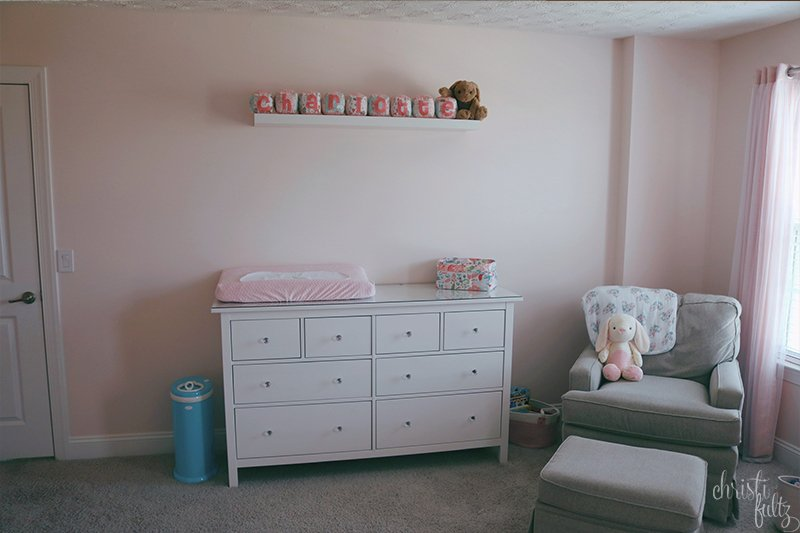 baby girl woodland nursery decor inspiration pink and coral with bunnies