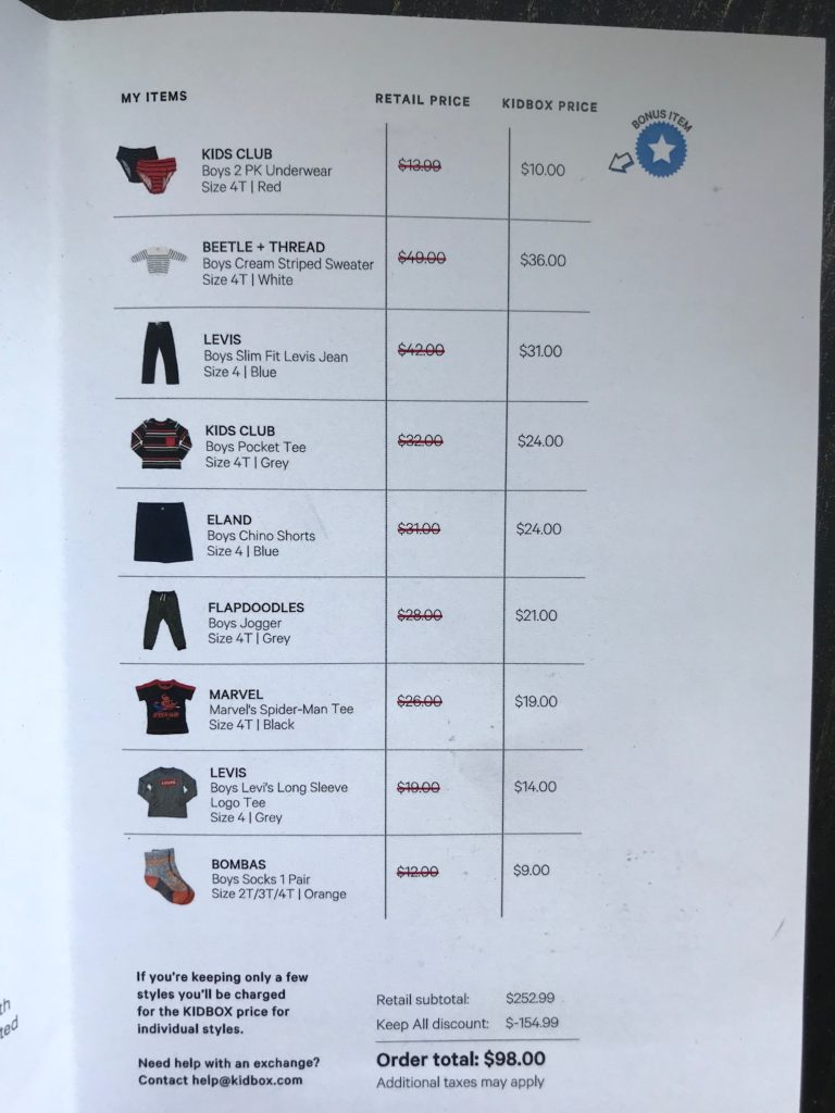 kidbox pricing