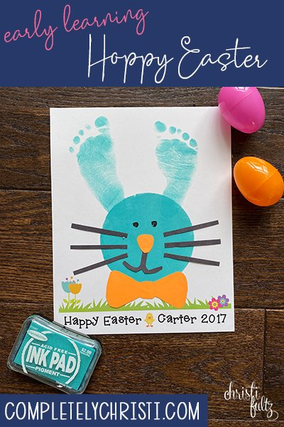 This Easter bunny footprint craft make a sweet keepsake for babies, toddlers, and preschoolers. Great for homeschooling or daycares too.