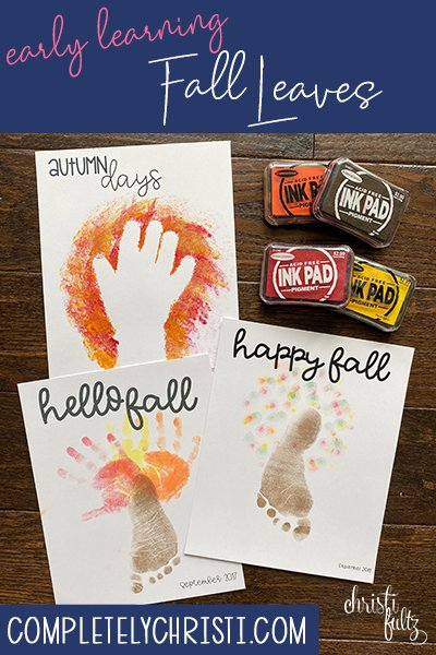 Fall trees handprint and footprint crafts make a sweet keepsake for babies, toddlers, and preschoolers. Great for homeschooling or daycares too.