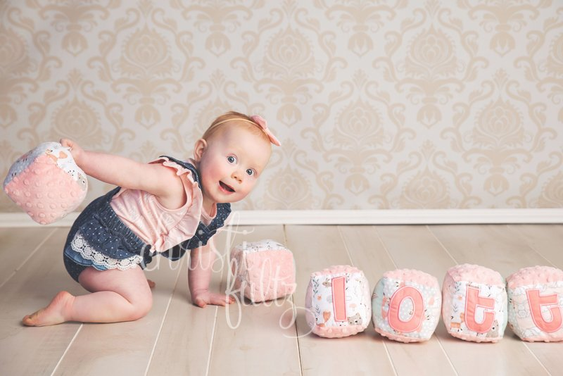 baby girl first birthday pictures pink denim
