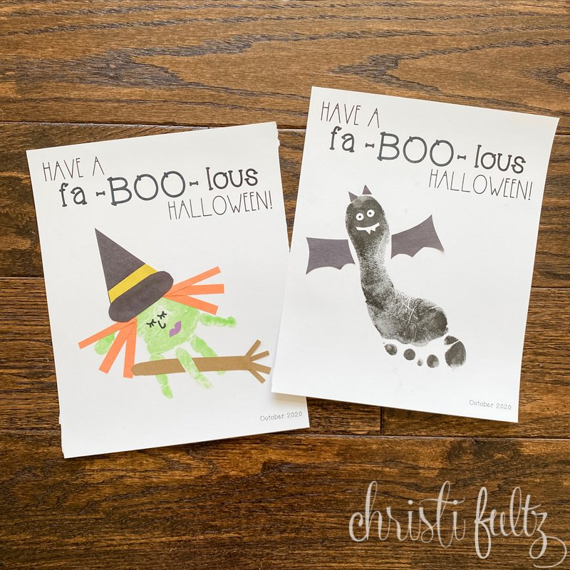 These sweet and spooky keepsake crafts are perfect for early learning at home, day care, or preschool. Families will treasure the handprints or footprints of their kiddos.